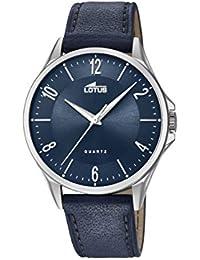 c03106fa2cd6 Lotus Watches Reloj Análogo clásico para Hombre de Cuarzo con Correa en  Cuero ...