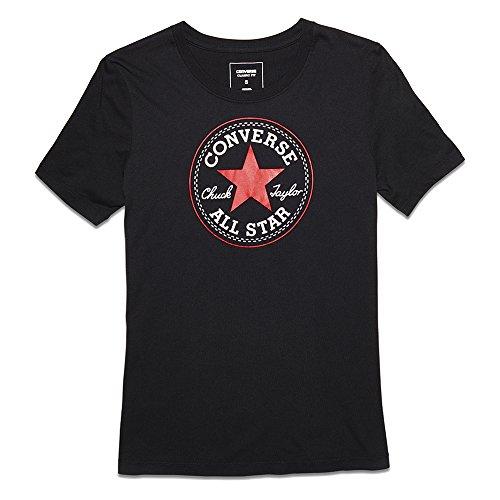 Converse Damen Solid Chuck Patch Tee T-Shirt Black