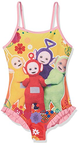 Teletubbies teletubbie, costume da bagno bambina, rosa pink, 3-4 anni