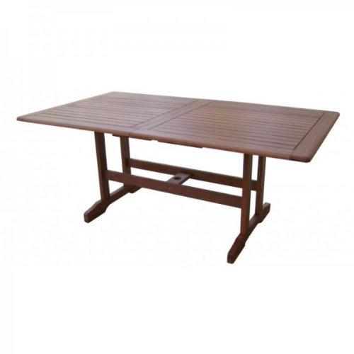 Massiver Gartentisch, Ausziehtisch 180-240cm aus hochwertigem Bankirai Hartholz, geölt
