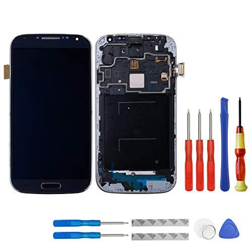 swark Super AMOLED Display für Samsung Galaxy S4 (SIV) GT- I9500 (International) Rahmen Schwarz + Werkzeug Opening Tools