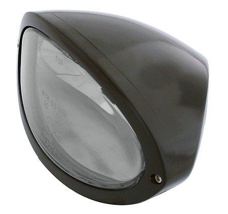 Scheinwerfer IOWA, schwarz, Klarglas, E-gepr.