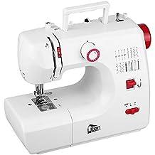 Mini máquina de coser manual electrica maquina coser portatil 16 Puntada (Rojo+ blanco)