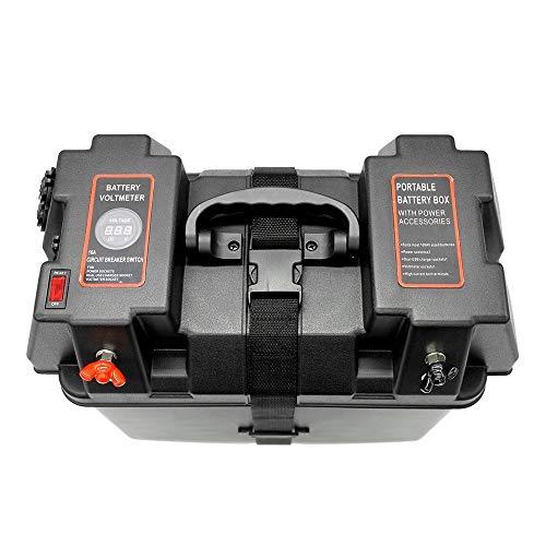 Essenziale caricabatteria da auto usb per caricabatteria da auto multifunzione a batteria 12v con schermo di visualizzazione voltmetro a led per rimorchio per camion di auto accessori elettronici auto