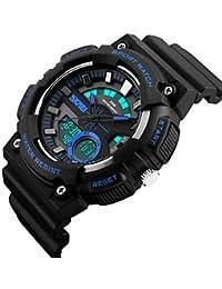 Lemumu 1235Hombres Mujer Ver Deportes Multi - Función Deportes impermeable reloj Relojes electrónicos de 50 metros