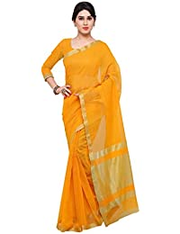 Sarees (Women's Clothing Saree For Women Latest Design Wear Sarees New Collection In Yellow Coloured Art Silk...