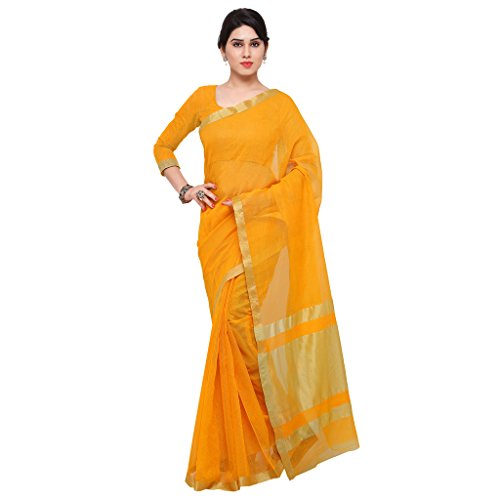 Mrinalika Fashion Silk Cotton Saree (Silk Sarees_Yellow)