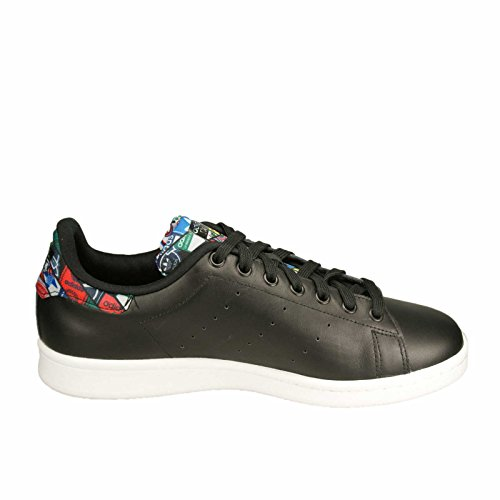 adidas Stan Smith, Baskets Mode Mixte Adulte noir/blanc