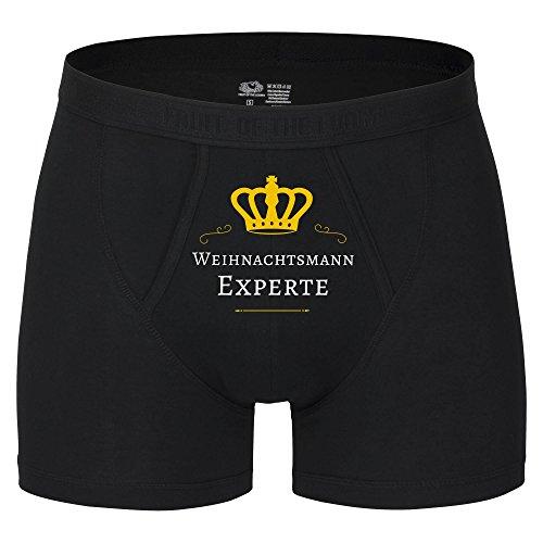 Boxer Short Weihnachtsmann Experte schwarz Herren Gr. S bis 2XL, Größe:XXL