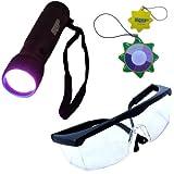 HQRP 12 LED UV Flashlight Leuchte Taschenlampe Prüfgerät Ultraviolett Schwarzlicht Professional 365 nm mit HQRP Sonnenlichtmesser