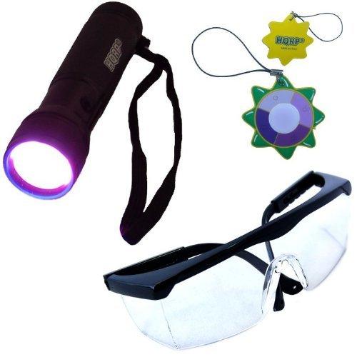HQRP 12 LED UV Flashlight Leuchte Taschenlampe Prüfgerät Ultraviolett Schwarzlicht Professional 365 nm mit HQRP Sonnenlichtmesser -