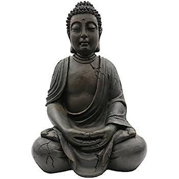 xxl buddha 100cm antik look frostsicher wetterbest ndig asia deko gartendeko feng shui. Black Bedroom Furniture Sets. Home Design Ideas
