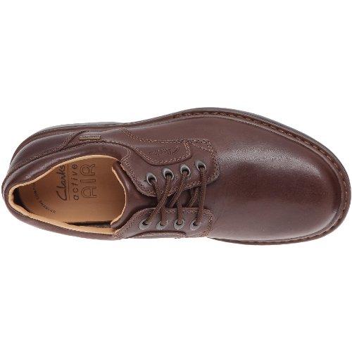 Clarks - Rockie Lo Gtx, Stringate da uomo Marrone (Ebony Leather)
