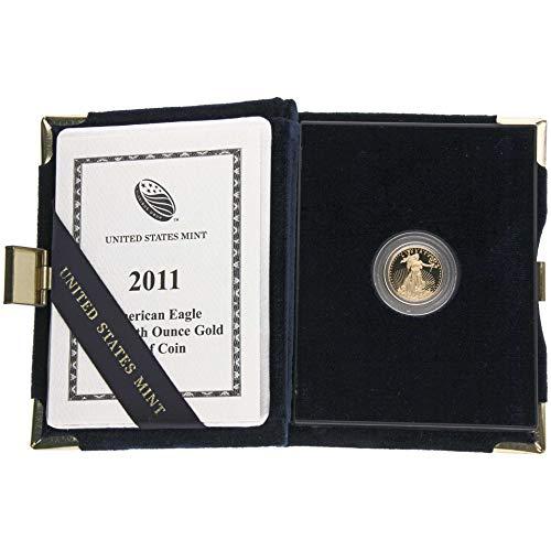 United States Mint Goldmünze USA 2011 - American Gold Eagle - 1/10 Unze - Polierte Platte - U.S. Mint Box mit Zertifikat - Gold Münze Eagle American