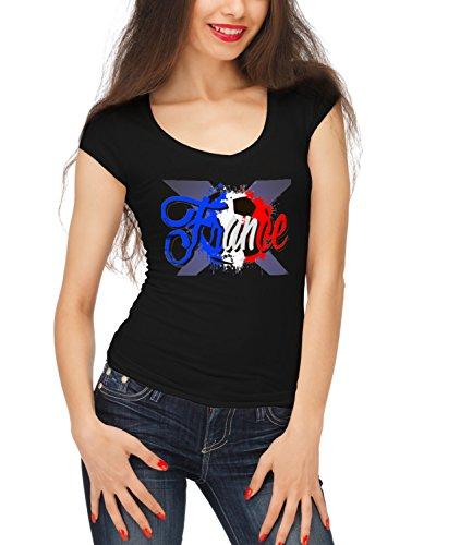 billion-group-france-styled-football-sport-illustration-womens-megan-crew-neck-t-shirt