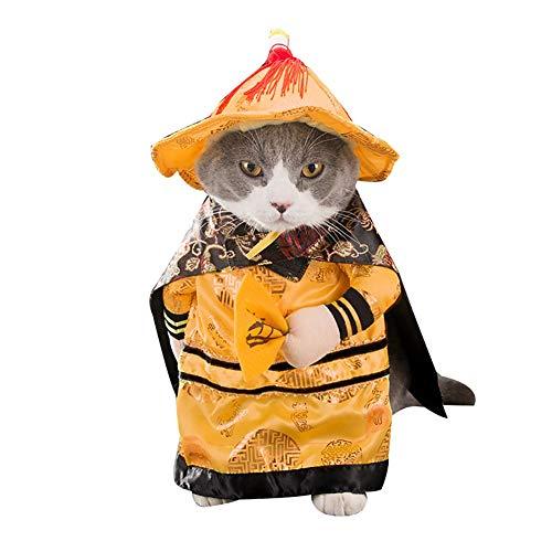 KoToTip Ritter Katze Kleidung lustige chinesische Prinzessin Cosplay Kleidung für Katzen Hunde Halloween Weihnachten Kostüm Katzen - England Ritter Kostüm