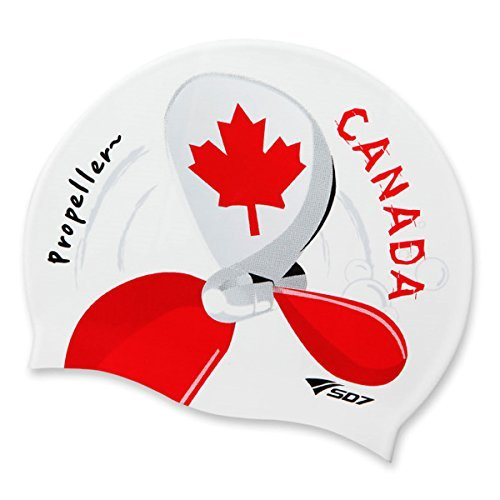 canada-flagmaple-leaf-flag-propeller-image-silicone-swimming-head-cap-by-koreatrends