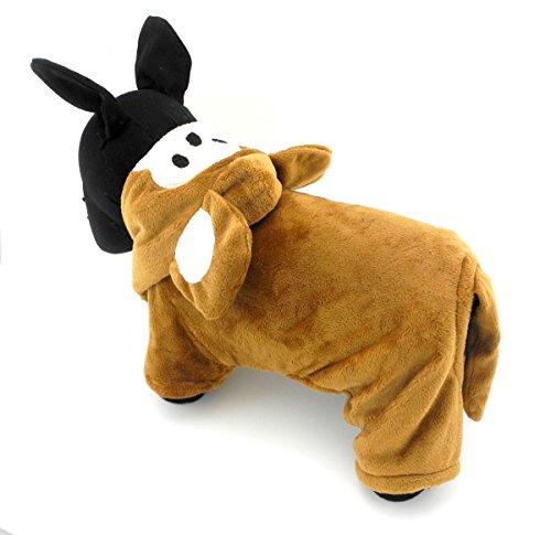 Pegasus Pet Kleidung für Welpen Katze Kleine Hunde Fleece Affe Kostüm mit Kapuze Jacke Mantel Halloween Kleidung (Kostüme Affe Hund)