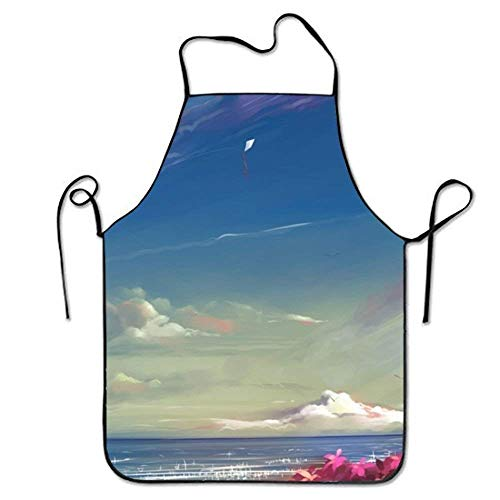 2019 Apron Adjustable Durable Aprons Anime Facebook Cover for Women Stitched ()