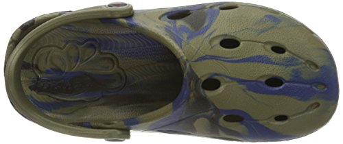 Chung Shi Unisex-Kinder 890050o Clogs Grün (khaki/navy/schwarz)