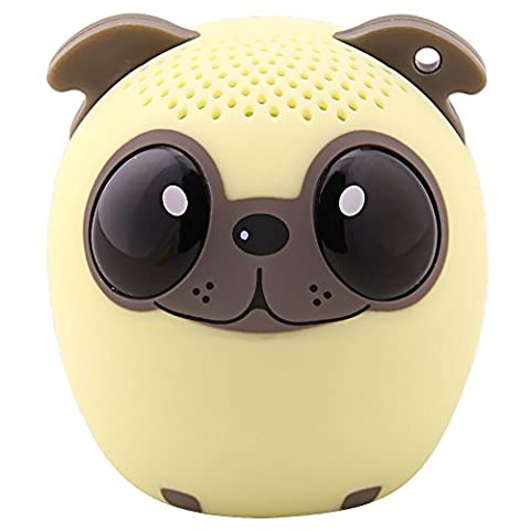 HUKOER Neue Mini Wireless Bluetooth Lautsprecher Kreative Cartoon Lautsprecherzubehör Telefon tragbare Audio Laut Stereo Schall Subwoofer (Hund)