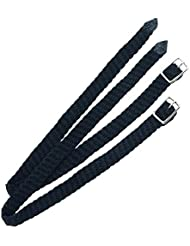 """Correas para espuelas de nailon trenzado caballo equitación Control, negro, 0.5"""""""