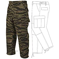 Tru-Spec BDU Pants, 60/40 Co/Poly Twill, Vietnam Tiger Stripe, Medium, Regular (Vietnam Tiger Stripe)
