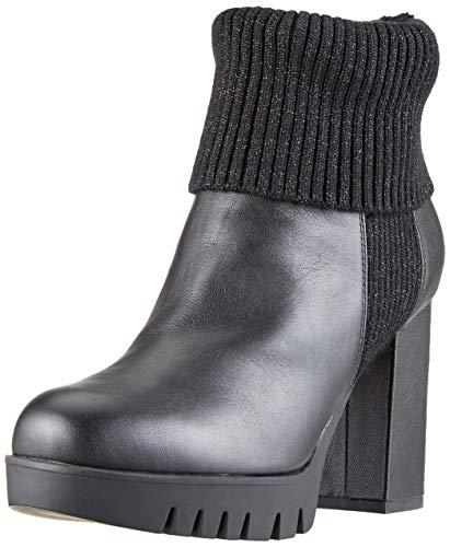 Fornarina bea3 sneaker a collo alto donna, nero (black) 37 eu
