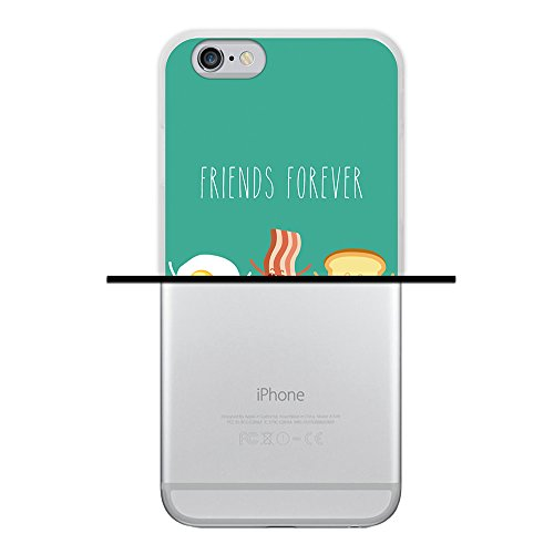 iPhone 6 6S Hülle, WoowCase Handyhülle Silikon für [ iPhone 6 6S ] Friends Forever Popcorn und Filme Handytasche Handy Cover Case Schutzhülle Flexible TPU - Transparent Housse Gel iPhone 6 6S Transparent D0217