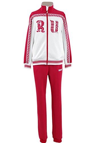 ze Jacke Sweatshirt mit Hose Anime Sport Outfit Kleidung für Erwachsene (M(Brustumfang 85-88cm), Rot) (Anime Cosplay Für Jungen)