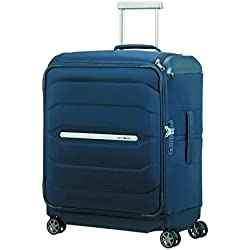 SAMSONITE Flux Soft - Spinner 56/20 w/Top Pocket Equipaje de Mano, 56 cm, 57.5 Liters, Azul (Navy Blue)