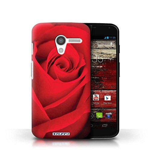 Kobalt® Imprimé Etui / Coque pour Motorola MOTO X / Jaune conception / Série Rose Rouge
