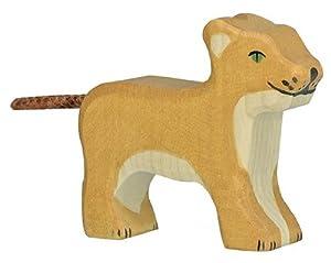 Holztiger- Pequeño Leon Figura de Juguete, (80141)
