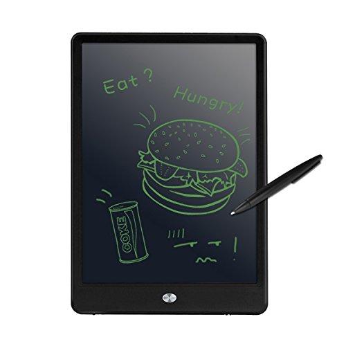LCD Writing Tablet, M.Way 10-Zoll-LCD Digital LCD Schreibtafel Schreiben Pad/ Grafiktabletts Tablette eWriter/ Elektronische Zeichnung Grafiken Board/ Notizblock mit Stift für Schreiben und Malen (Schwarz)