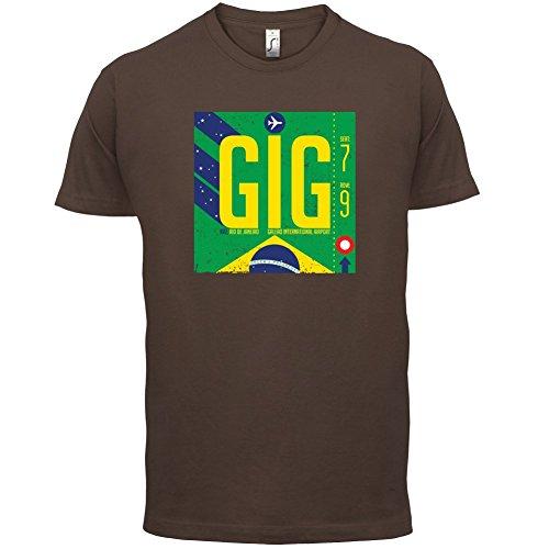 Rio Flughafen - Herren T-Shirt - 13 Farben Schokobraun