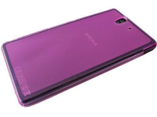**Premium** LILA TPU-Case Sony Xperia Z C6603 L36H Tasche Slim Handytasche Schutztasche Smartphone Handy Case Etui Hülle Schale Schutzhülle LILA von Avcibase