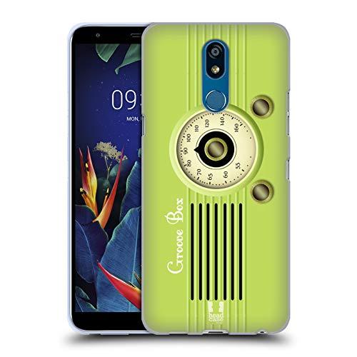 Head Case Designs Groove Box Vintage Radio Telefon Soft Gel Huelle kompatibel mit LG K40 / K12 Plus K40 Radio