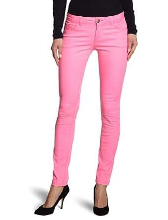 ONLY Damen Hose Normaler Bund 15068614/SKINNY NYNNE PANT NOOS, Gr. 34/32, Pink (NEON PUNK)