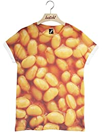 Batch1 Baked Beans All Over Fashion Print Novelty Fast Food Unisex T-Shirt
