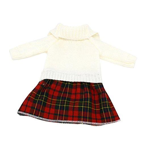 MagiDeal 1 Stück Einteiliges Strickkleid / Pullover Kleid Outfits Für 18'' American Girl Puppen Zubehör (Kleider Für American Girl-puppen)