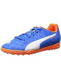 Puma Boy's Electric Blue Lemonade-White-Orange Clown Fish Football Shoes-13 UK/India (32 EU)(4055263076084)