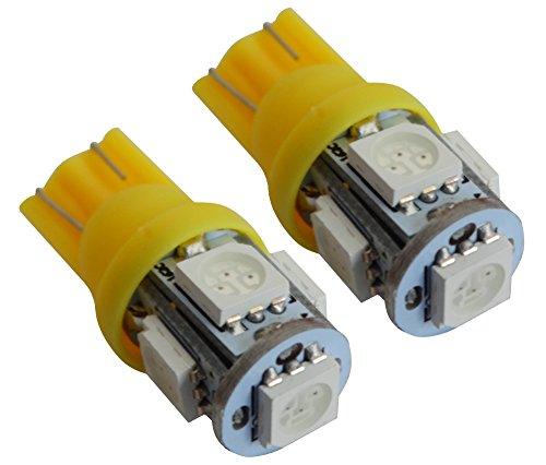 AERZETIX: Jeu de 2 ampoules T10 W5W 12V à 5 LED SMD (Jaune)