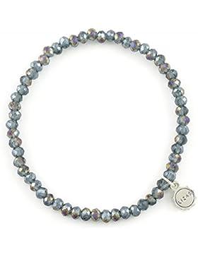 Lizas Armband Modeschmuck Kristallperlen grau-blau LIZA240