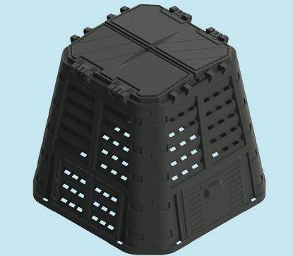 COMPOSTIERE COMPOSTIERA LT. 420 BRIXO ECOBOX RUGBY 89X89XH80