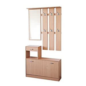 albatros garderoben set 3 teilig siena 100cm breit buche mit n ssebest ndigen und kratzfesten. Black Bedroom Furniture Sets. Home Design Ideas