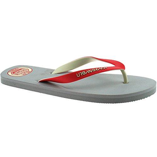 mens-urban-beach-pool-grey-amoco-fw738-flip-flops-sandals-size-uk-6-eu39-40