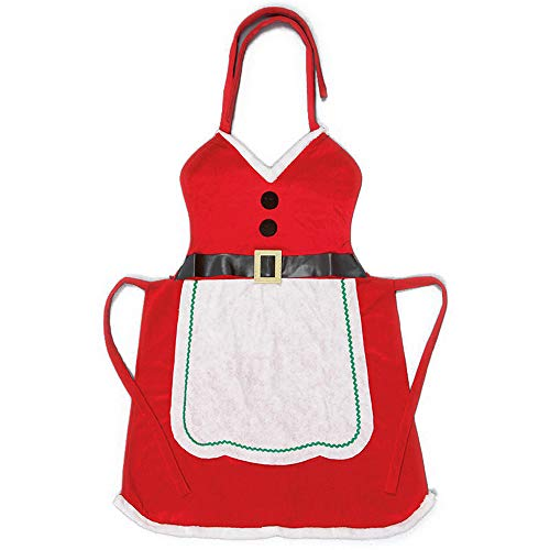 Outdoor Look Christmas Womens/Ladies Missy Mrs Santa Claus Dress Up Apron