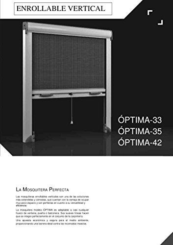 KIT MOSQUITERA ENROLLABLE M42 (BLANCO) (MEDIDAS ESTANDAR) FABRICADA A MEDIDA (900 x 2400 mm)