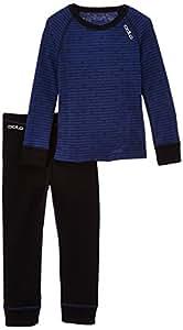 Odlo Kinder Unterwäsche & Set Shirt Long Sleeve Pants long Warm Kid's, black - estate blue, 80, 150409