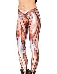 Autek Femmes Imprimé Mesdames Les Jambières pleine longueur Pantalon souple Crayon Collants DDKY12